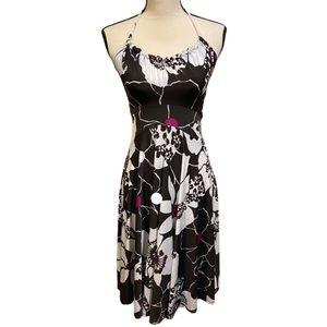 Kokoon Floral Halter Tie Neck Flowy Midi Dress